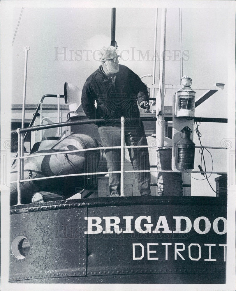 1970 Detroit, Michigan Brigadoon II & Dr. John Thomson Press Photo - Historic Images