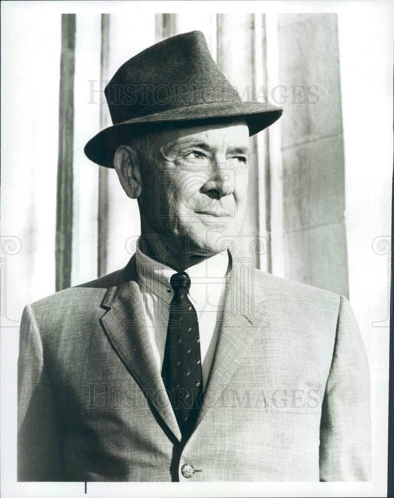 1963 Oscar Winning Actor Dean Jagger Press Photo - Historic Images