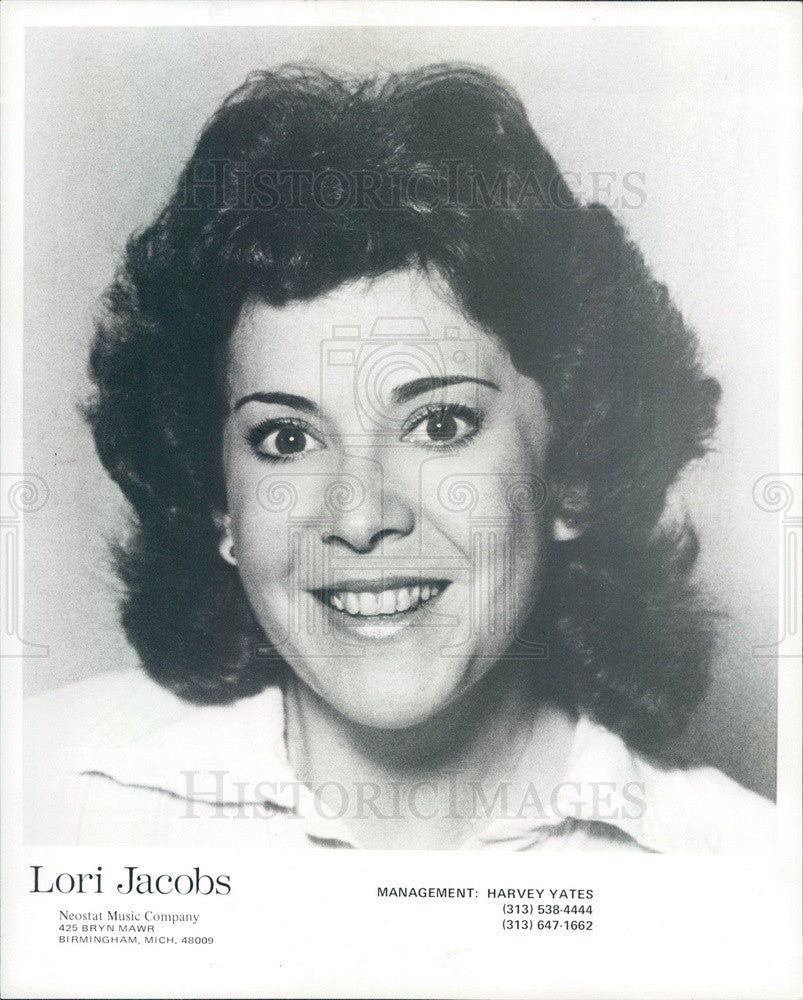 1979 Singer Lori Jacobs Press Photo - Historic Images
