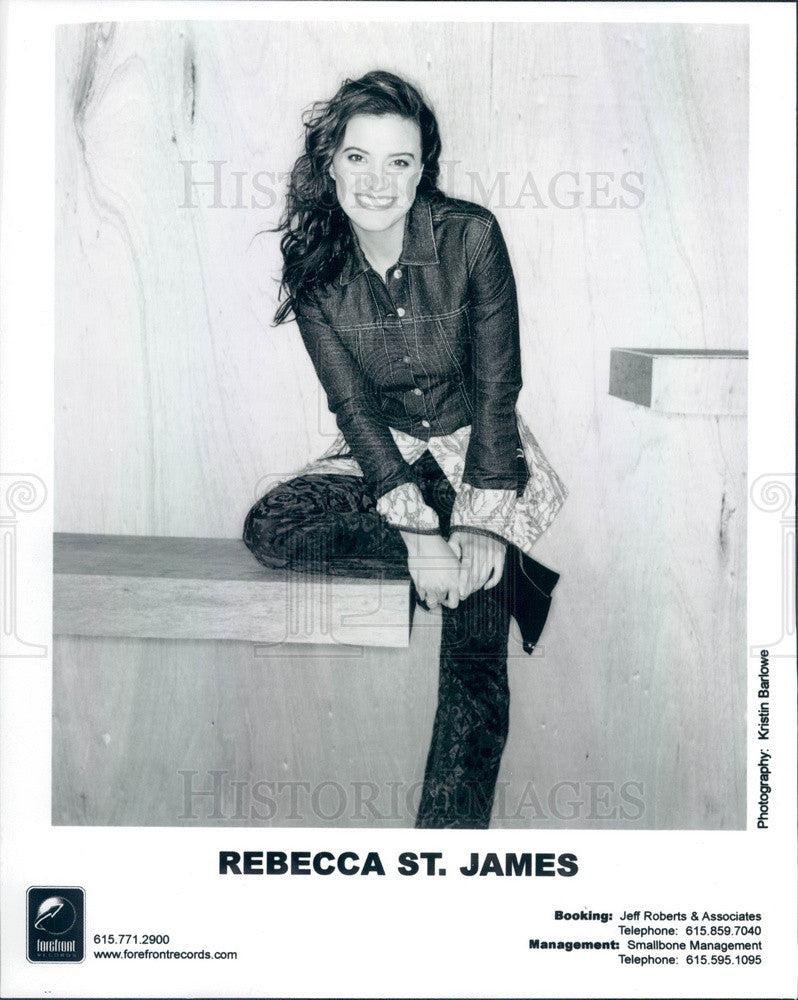 Undated Singer Rebeccah St. James Press Photo - Historic Images