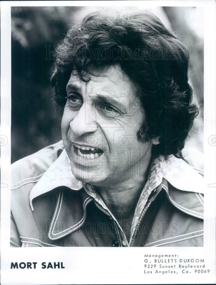 1974 Actor & Comedian Mort Sahl Press Photo - Historic Images
