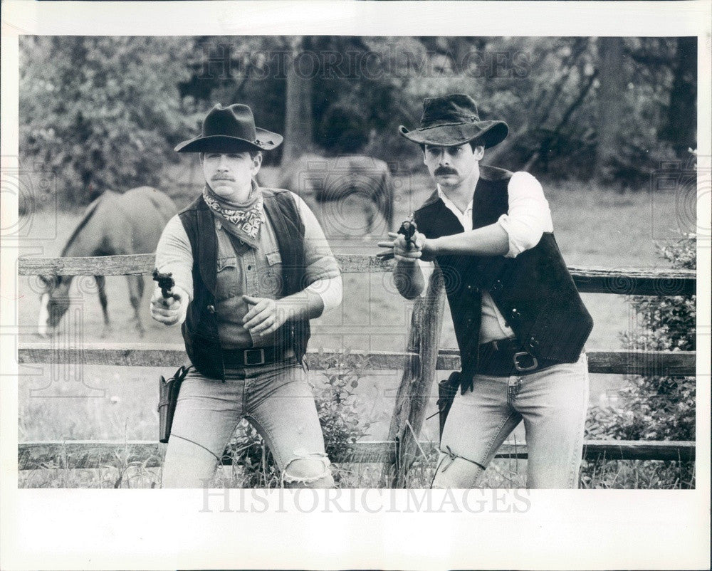 1983 Westmont, Illinois Nealy Horse Farm Staged Shootout Press Photo - Historic Images