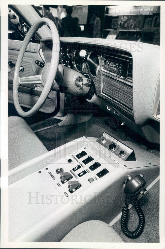 1981 Console of Armored Car that Controls Security Devices Press Photo - Historic Images