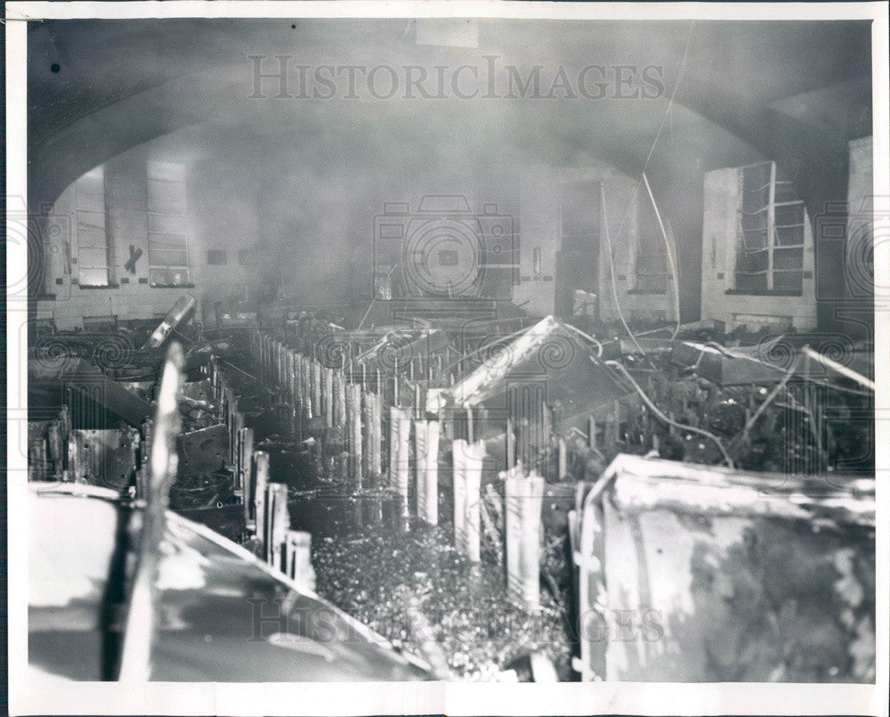 1961 Chicago, Illinois Agudath Achim Synagog Fire Damage Press Photo - Historic Images