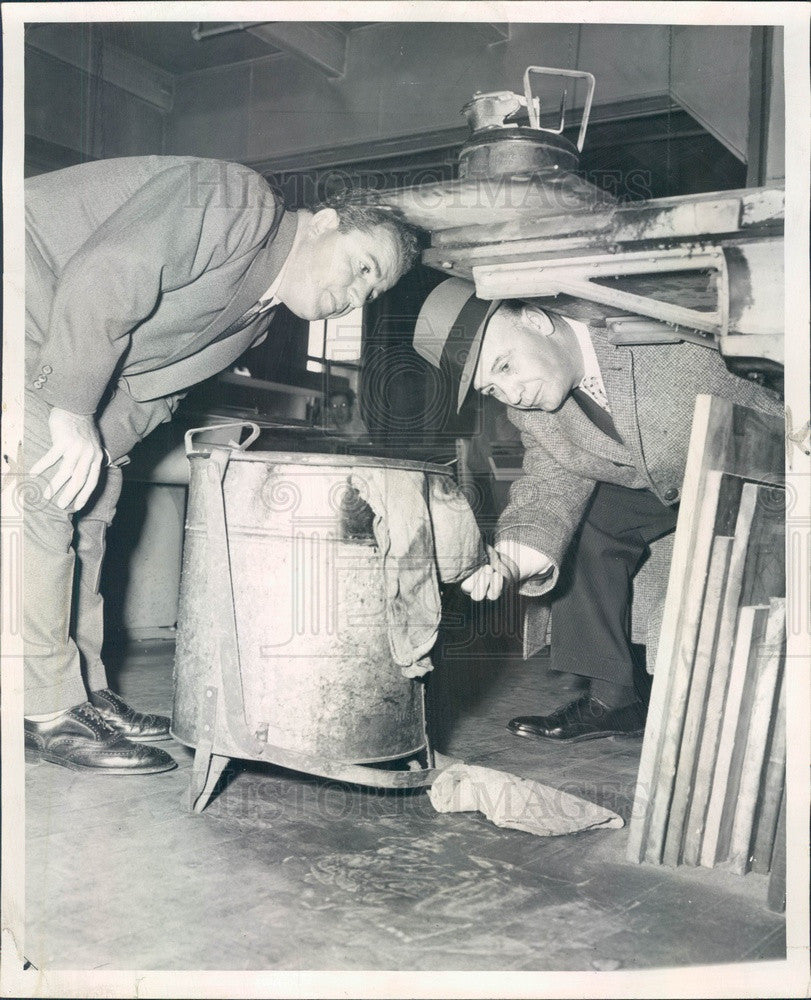 1957 Chicago, Illinois Fire Prevention Drive, Comr Robert Quinn Press Photo - Historic Images