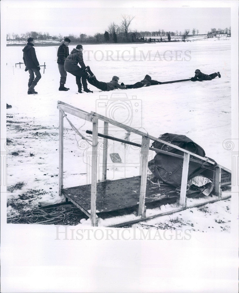 1961 Michigan Boy Scouts Klondike Derby, Wapati's Patrol Press Photo - Historic Images