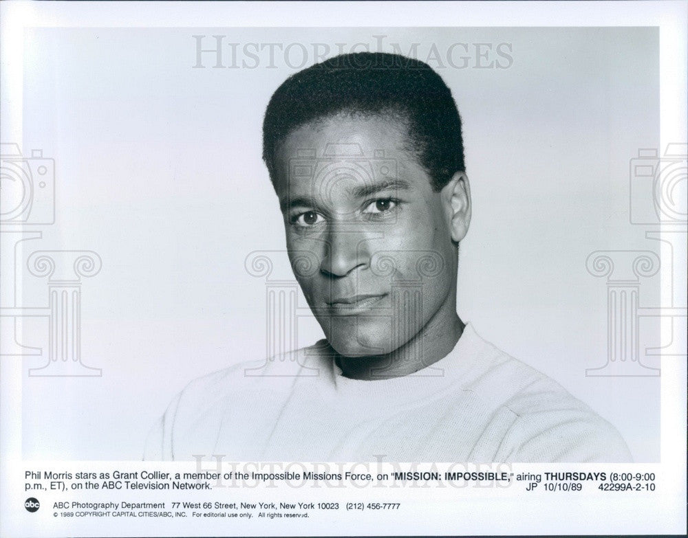 1993 TV Show Mission Impossible Actor Phil Morris Press Photo - Historic Images