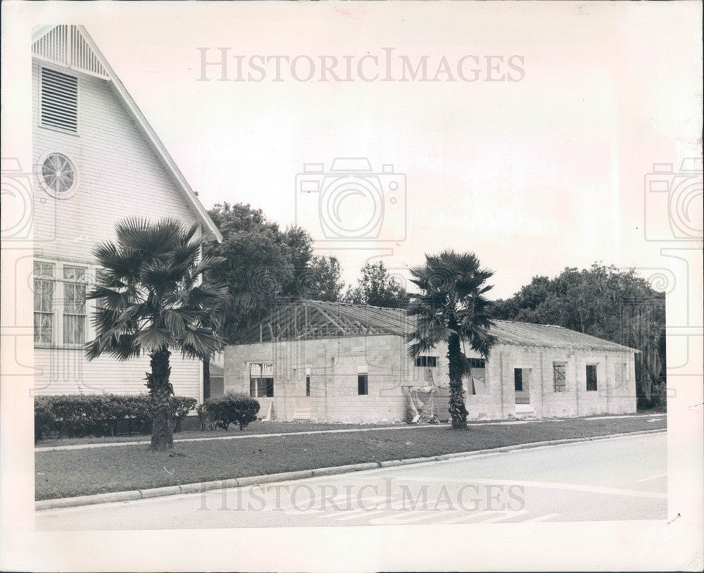 Undated Inverness, Florida First Methodist Church Addition Press Photo - Historic Images