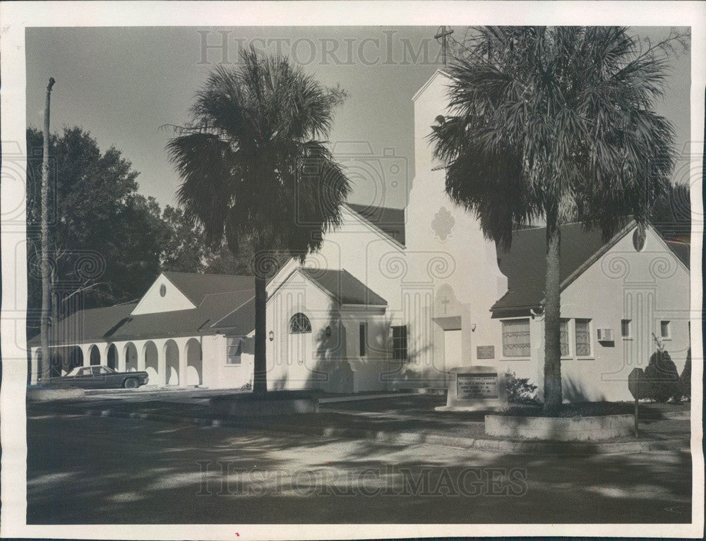 1969 Inverness, Florida First Presbyterian Church Fellowship Hall Press Photo - Historic Images