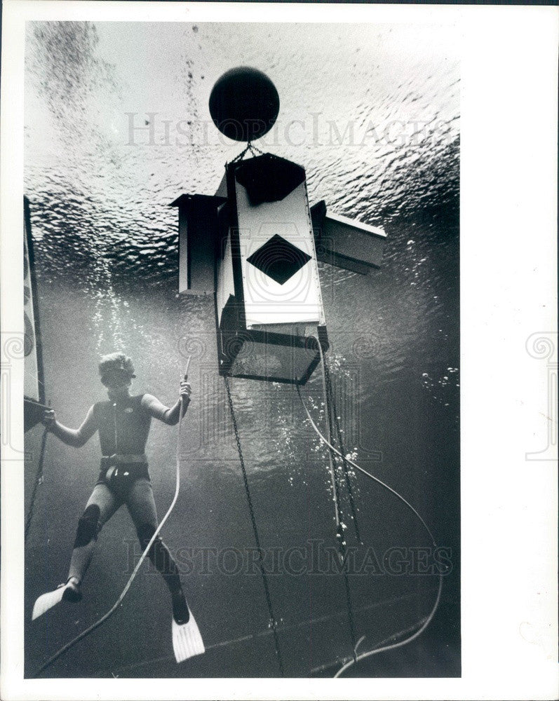 1986 Weeki Wachee Spring, Florida Diver Krofta Press Photo - Historic Images