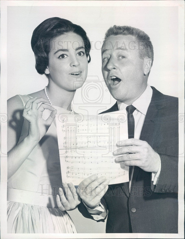 1960 Entertainers George Gobel & Carla Alberghetti Press Photo - Historic Images
