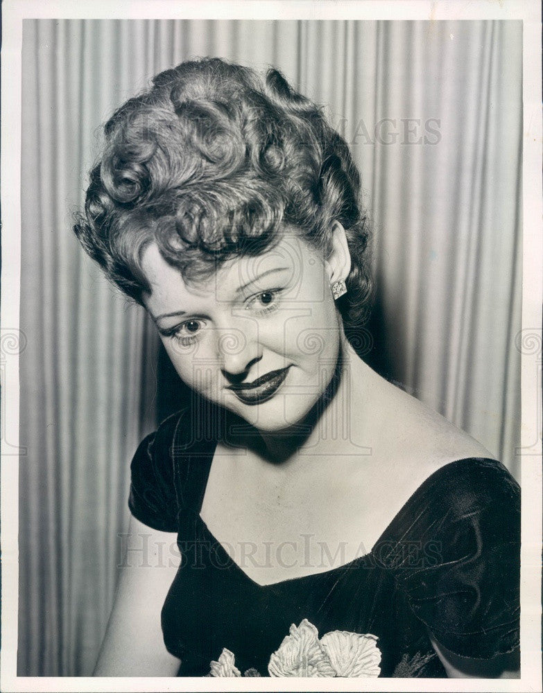 1944 American Model Shirlee Franklin 1950 Queen of Illinois Press Photo - Historic Images