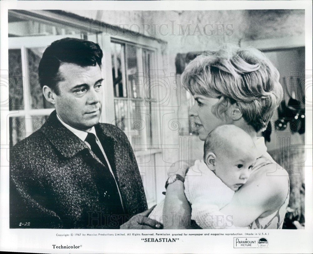 1968 British Actors & Movie Stars Dirk Bogarde & Susannah York Press Photo - Historic Images