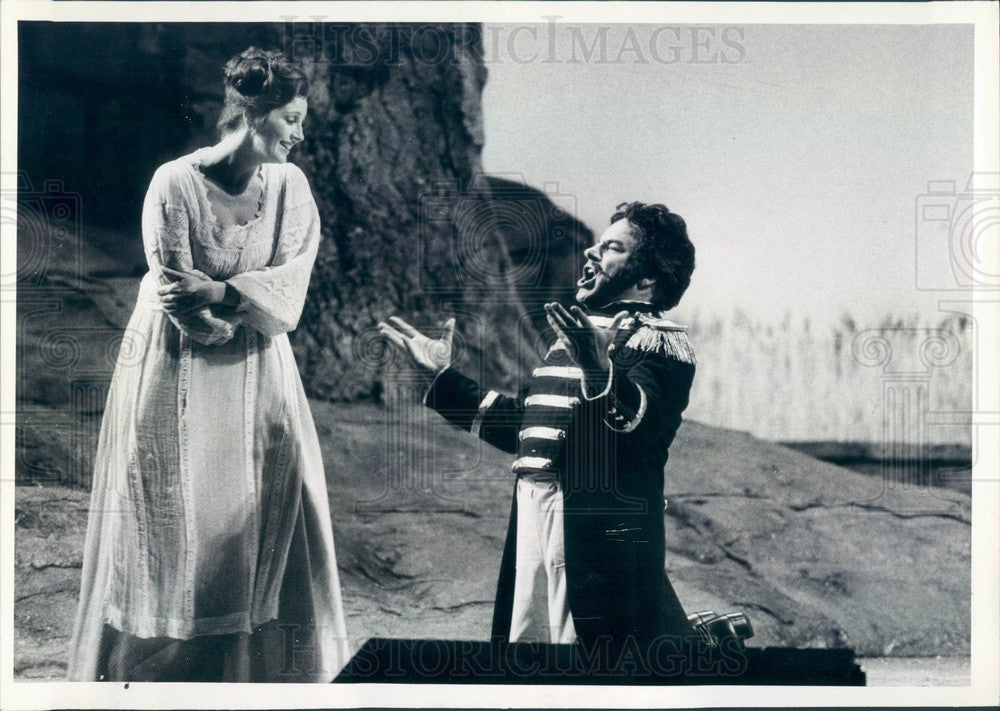 1981 Lyric Opera of Chicago, Isabel Buchanan & Mario Sereni Press Photo - Historic Images