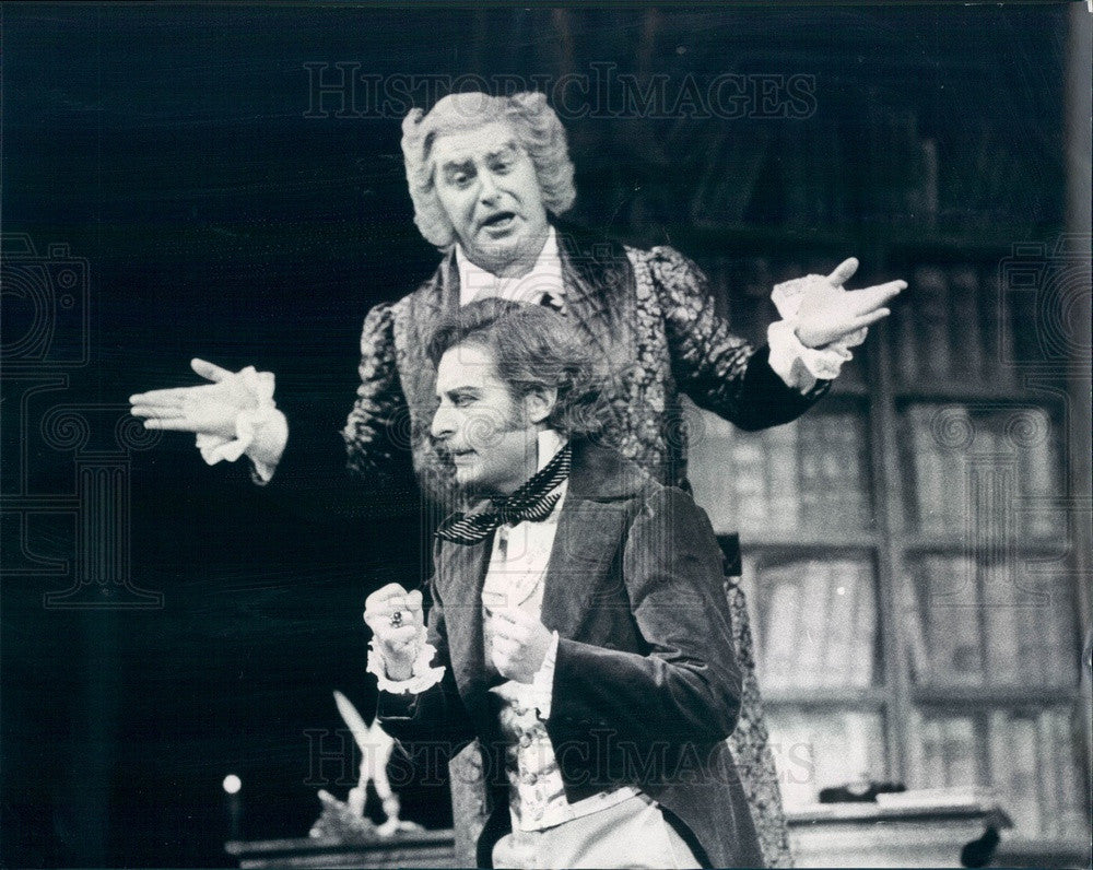 1974 Lyric Opera of Chicago, Alfredo Kraus & Wladimira Ganzarolli Press Photo - Historic Images