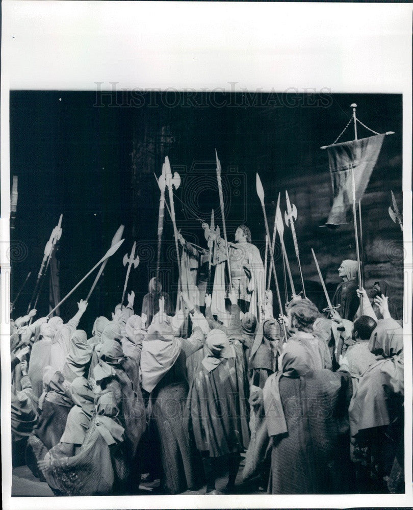 1970 Lyric Opera of Chicago, Bernabe Marti in Macbeth Press Photo - Historic Images
