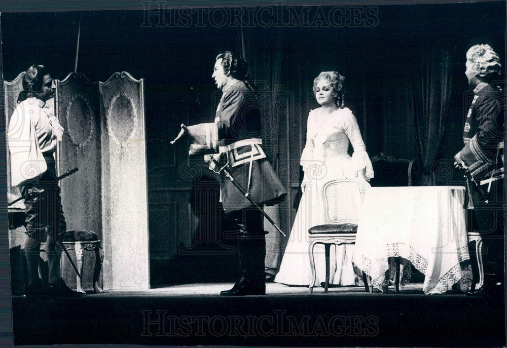 1973 Lyric Opera of Chicago, Alfredo Kraus & Teresa Zylis-Gara Press Photo - Historic Images