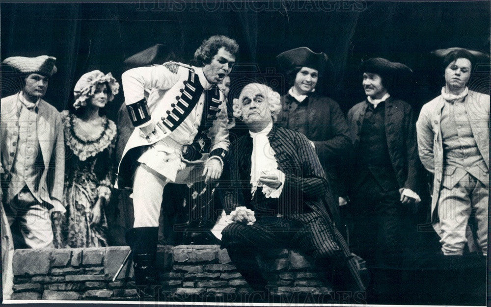 1977 Lyric Opera of Chicago, Paolo Montarsolo & Timothy Nolen Press Photo - Historic Images