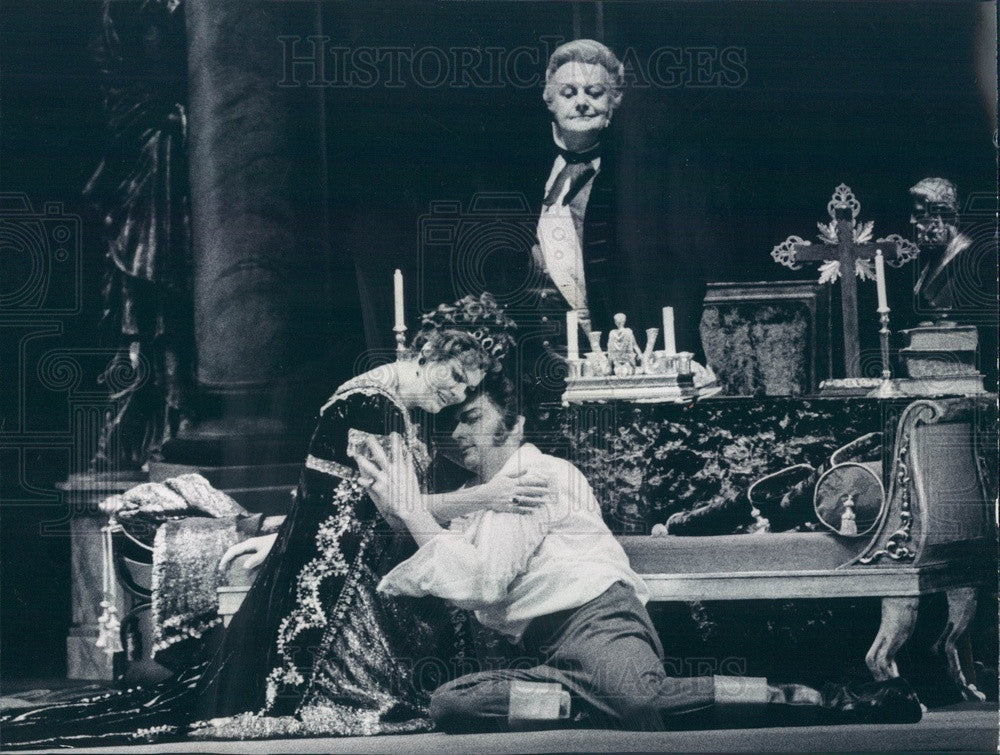 1973 Lyric Opera of Chicago, Teresa Kubiak & Franco Tagliaviani Press Photo - Historic Images