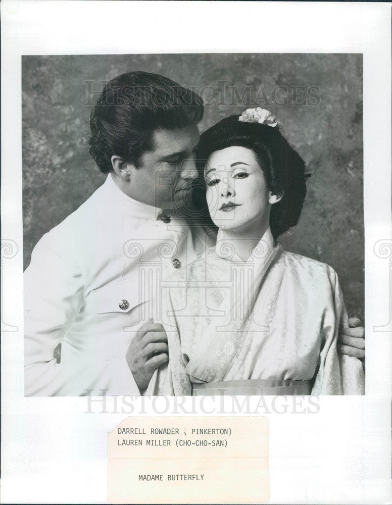 1989 Chamber Opera Chicago, Darrell Rowader & Lauren Miller Press Photo - Historic Images
