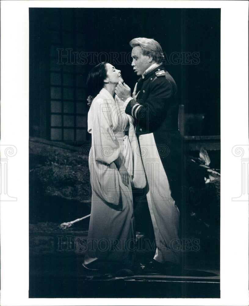 1998 Opera Madama Butterfly, Catherine Maefitano & Richard Leech Press Photo - Historic Images