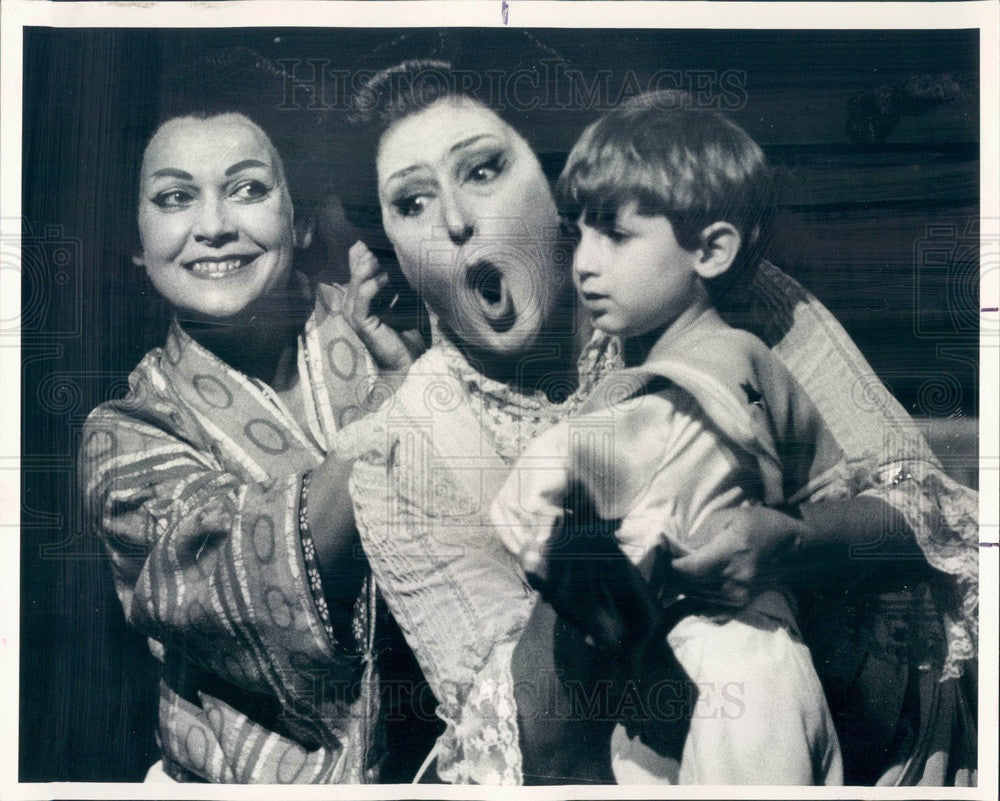 1985 Lyric Opera of Chicago Anna Tomowa-Sintow, Elena Zilio Press Photo - Historic Images