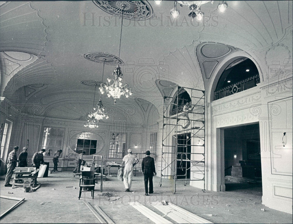 1966 Chicago, Illinois Orchestra Hall Renovation Press Photo - Historic Images