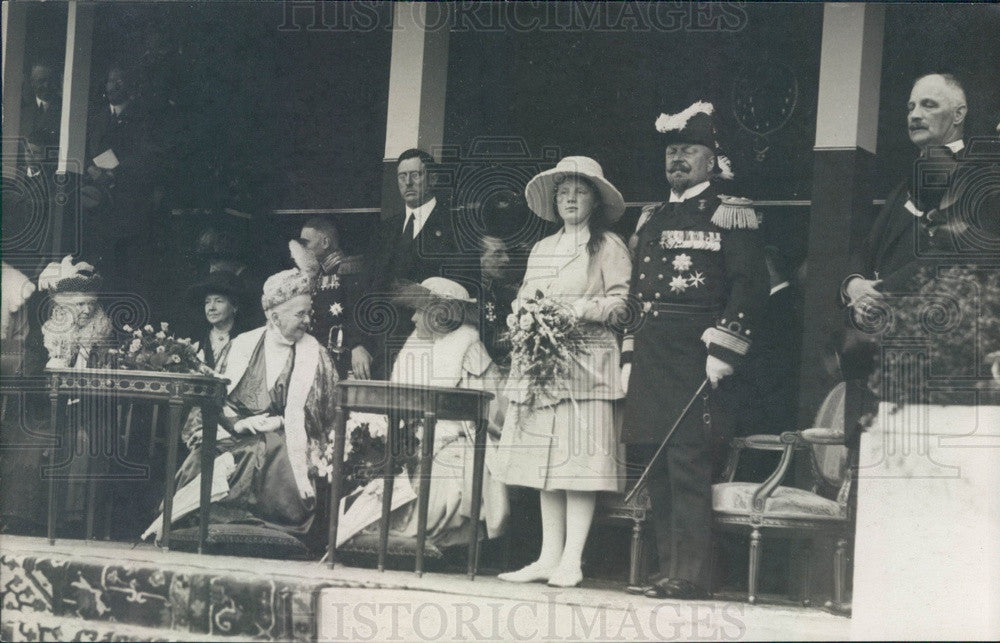 1923 Holland Queen Wilhelmina, Princess Juliana, Prince Hendrick Press Photo - Historic Images