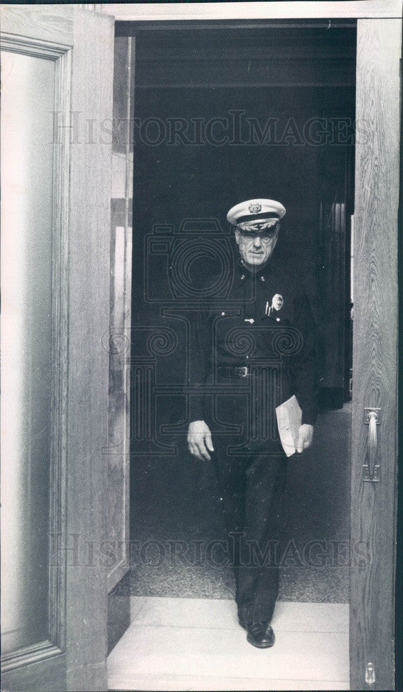 1968 Denver, Colorado Fire Chief Cassio Frazzini Press Photo - Historic Images