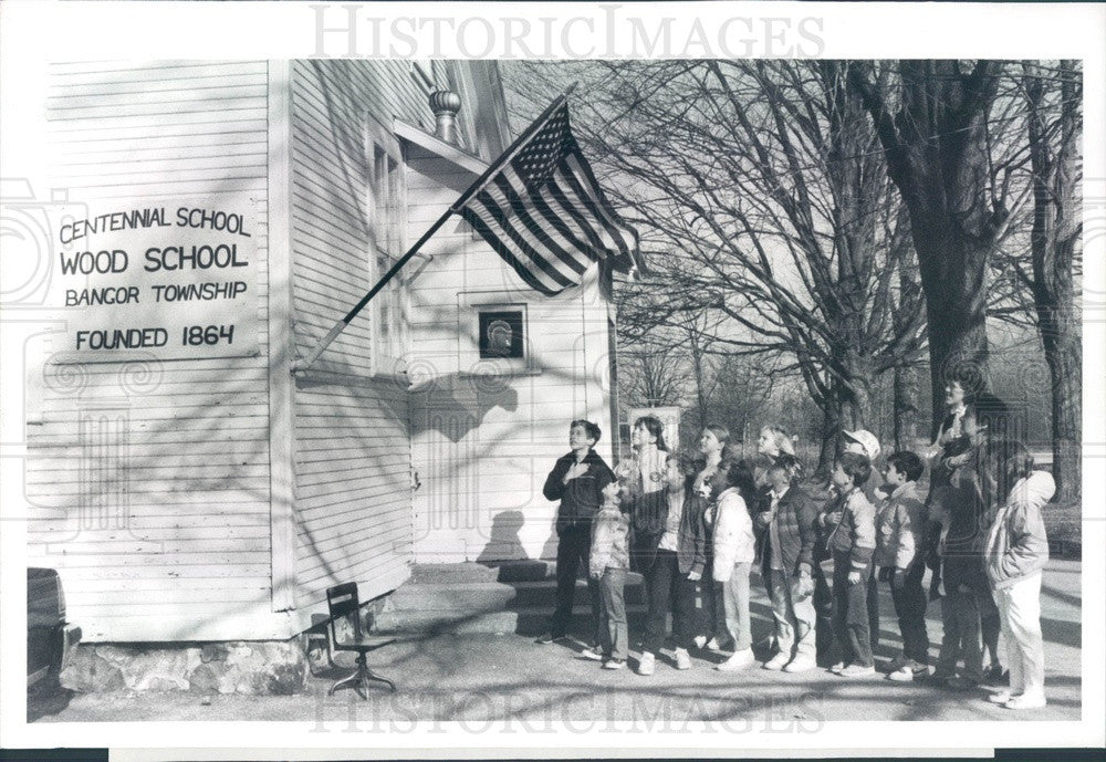 1988 Bangor Township Wood School, Founded 1864 Press Photo - Historic Images