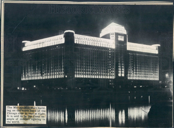 1930 Chicago, Illinois Merchandise Mart Building Press Photo - Historic Images