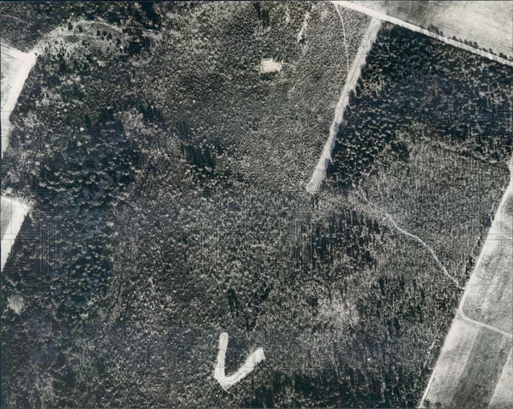 1942 Aerial View of Eastern Air Base by US Army First Air Force Press Photo - Historic Images