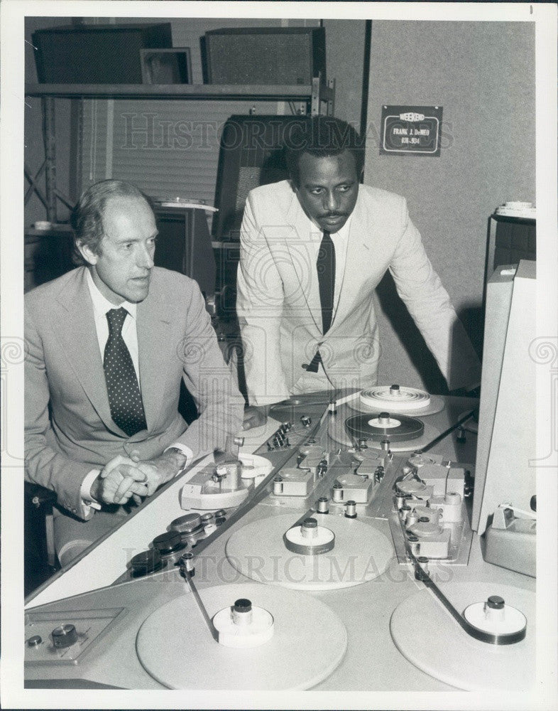 1981 News Correspondents Garrick Utley & Emery King Press Photo - Historic Images