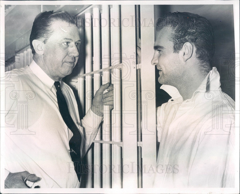 1961 Clinton County, Michigan Sheriff Percy Patterson & Richard Pohl Press Photo - Historic Images