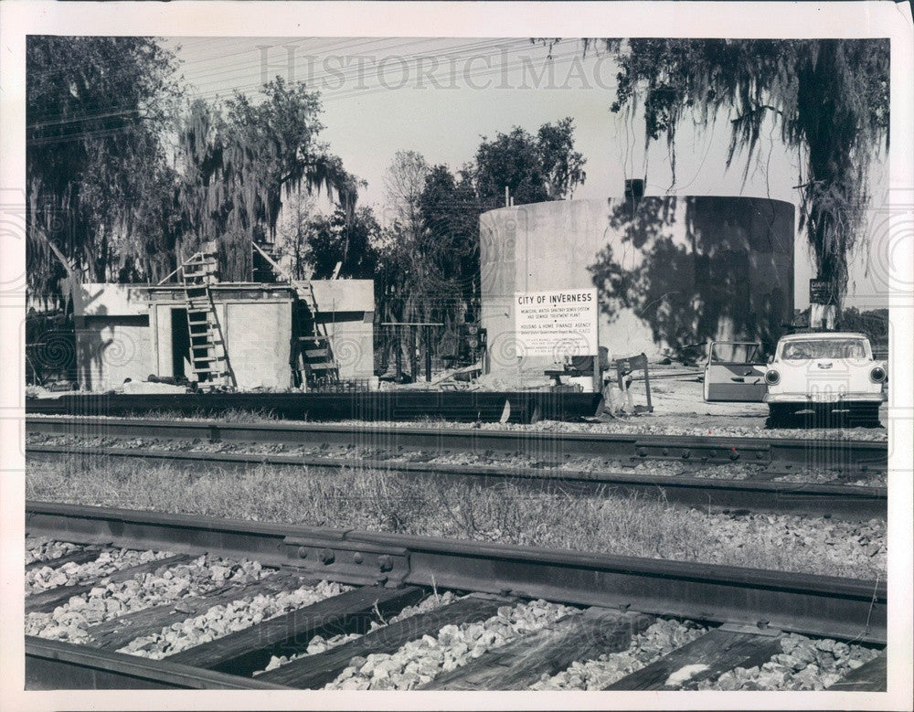 1962 Inverness, Florida Disposal Plant Construction Press Photo - Historic Images