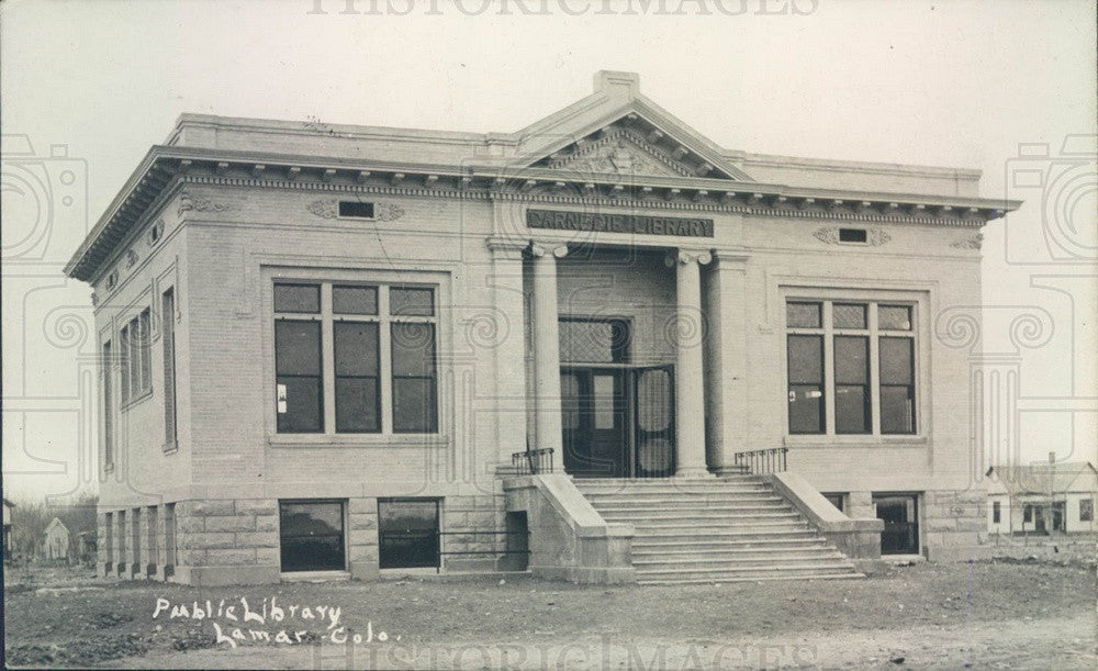1929 Lamar, Colorado Public Library Postcard - Historic Images