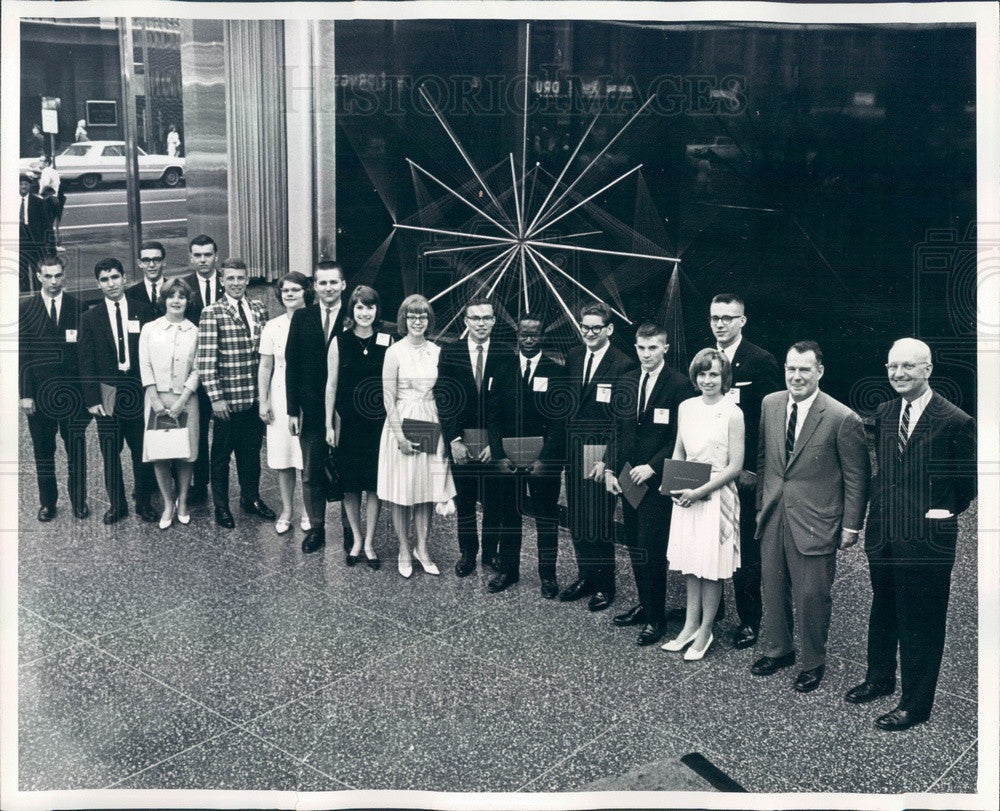 1965 Chicago, Illinois Inland Steel Co Scholarship Winners Press Photo - Historic Images
