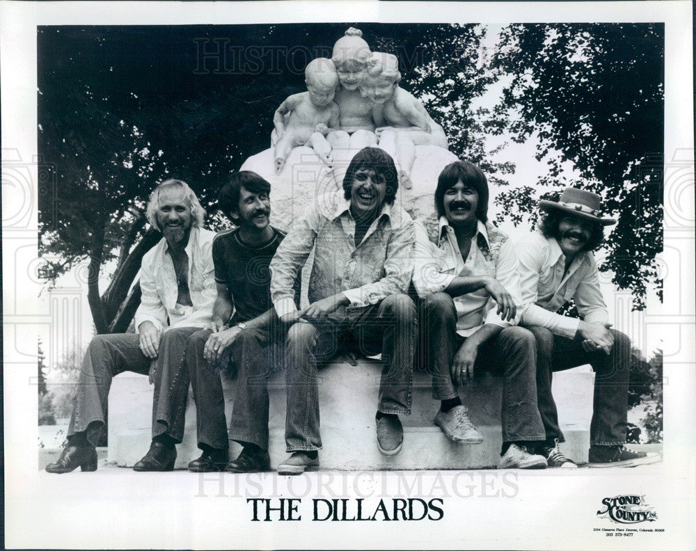 1975 American Bluegrass Band The Dillards Press Photo - Historic Images