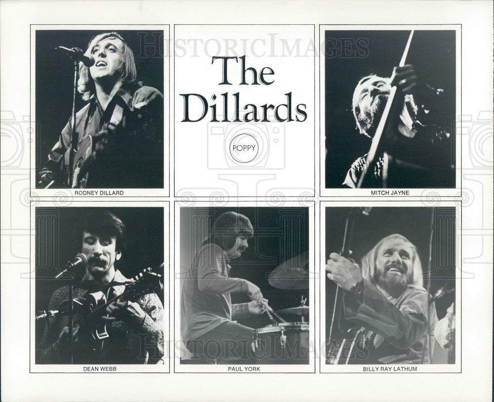 1974 American Bluegrass Band The Dillards Press Photo - Historic Images
