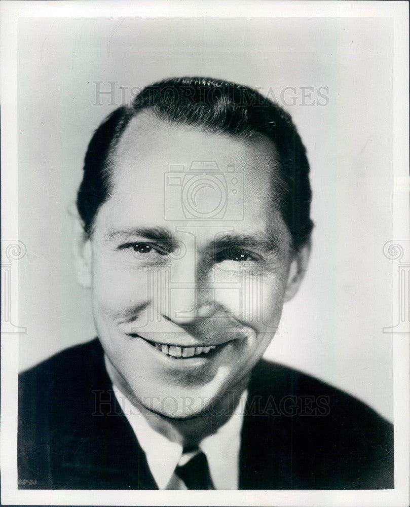1956 American Hollywood Actor & Movie Star Franchot Tone Press Photo - Historic Images