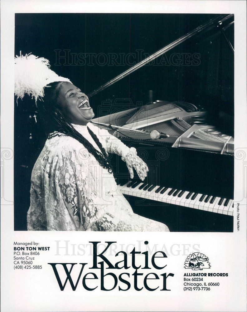 1993 American Boogie-Woogie Pianist Katie Webster Press Photo - Historic Images