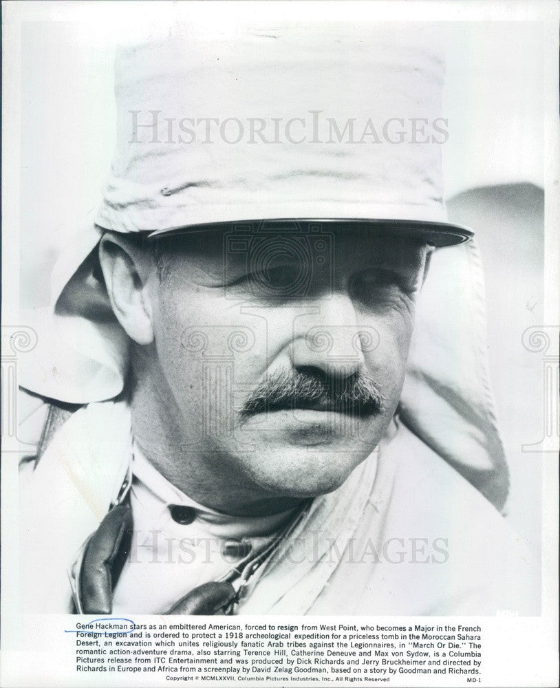 1977 American Hollywood Actor Gene Hackman Press Photo - Historic Images