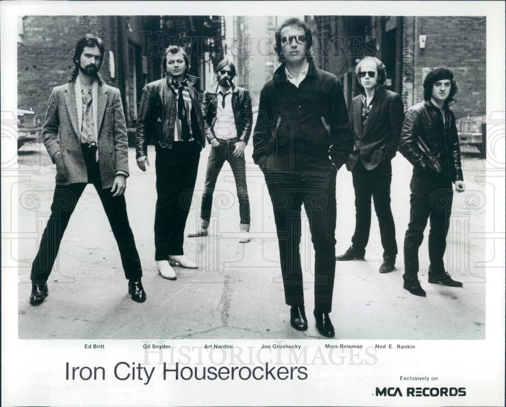 1980 American Rock Band Iron City Houserockers Press Photo - Historic Images