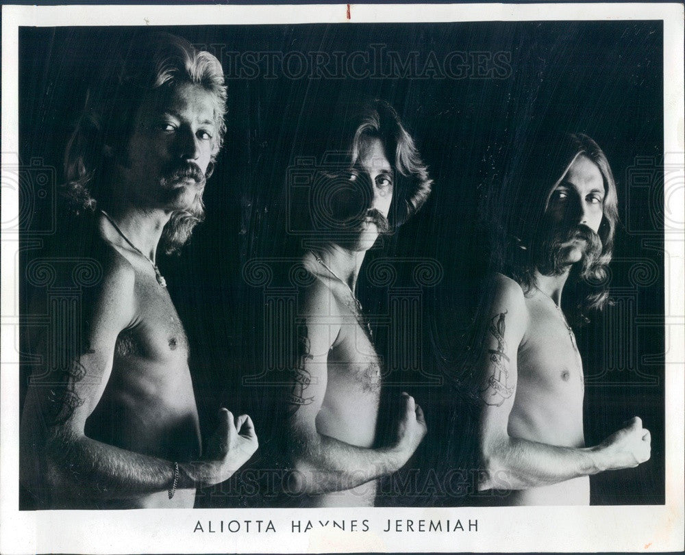 1976 American Rock Group Aliotta Haynes Jeremiah Press Photo - Historic Images