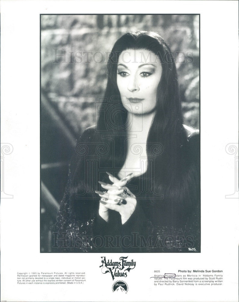 1993 American Actress Anjelica Huston in Addams Family Values Press Photo - Historic Images