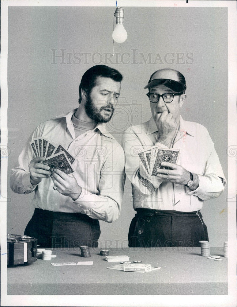 1969 American Hollywood Actors Robert Goulet & Phil Silvers Press Photo - Historic Images