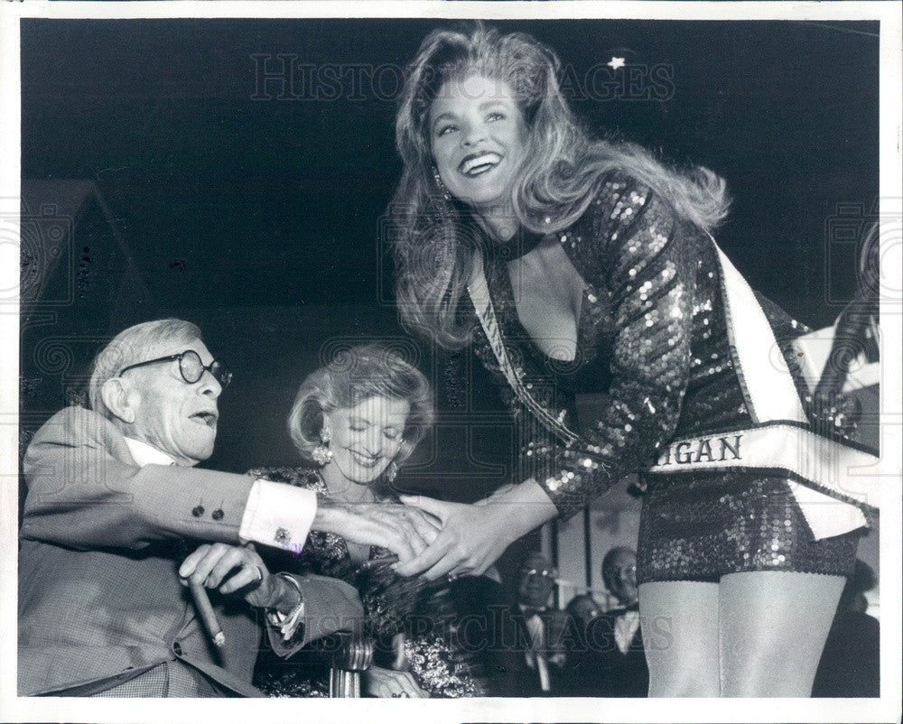 1992 George Burns Florence Henderson Miss Michigan Shannon Clark Press Photo - Historic Images