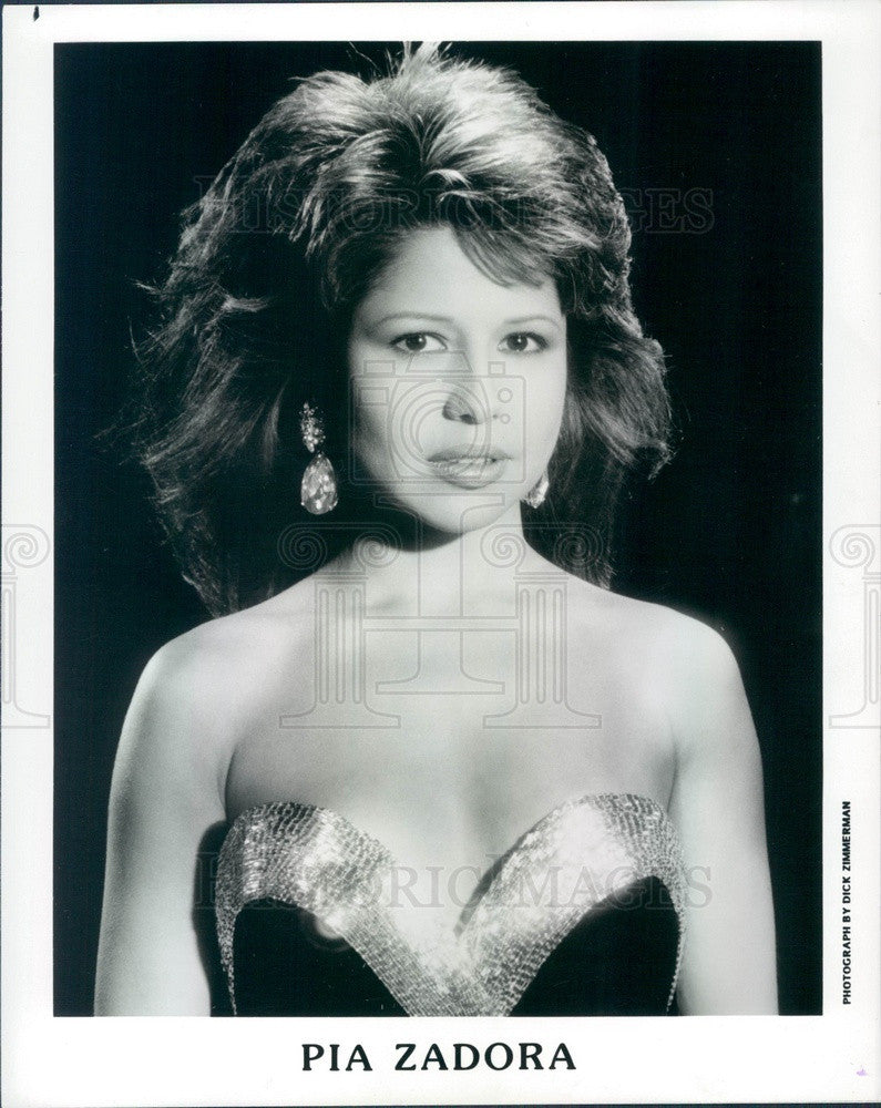 1988 American Hollywood Actress & Singer Pia Zadora Press Photo - Historic Images