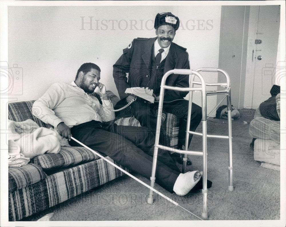 1989 Chicago, Illinois CTA Bus Driver Hero Charles Welch Press Photo - Historic Images