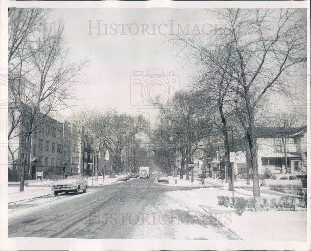 1960 Summerdale, Illinois Residential Street, N Wolcott Press Photo - Historic Images